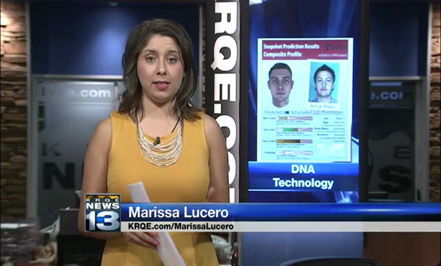 [IMAGE] Marissa Lucero reporting for KRQE TV, Albuquerque, NM