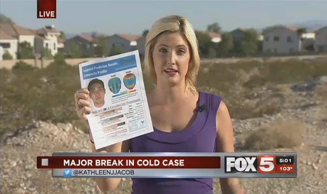 "[IMAGE] ""Major Break In Cold Case"" by KVVU TV Reporter Kathleen Jacob"