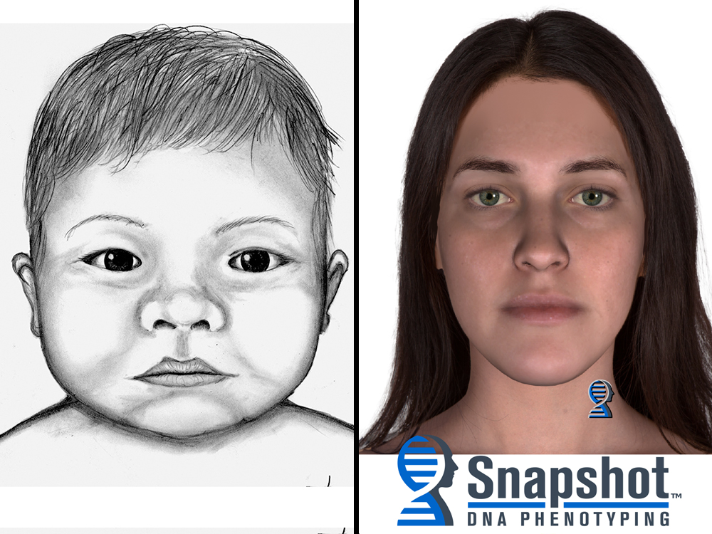 [IMAGE] Police Sketch of Infant; Mother's Snapshot