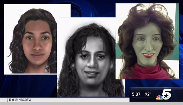 [IMAGE] Snapshot Composite Profile and Police Sketches of Fort Worth, TX, Murder Victim