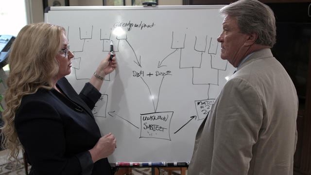 "[IMAGE] CeCe Moore Talking to Steve Kroft of ""60 Minutes"""