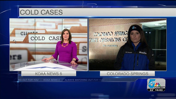 [IMAGE] Erin Chapman reporting for KOAA-TV, NBC 5, Colorado Springs, CO